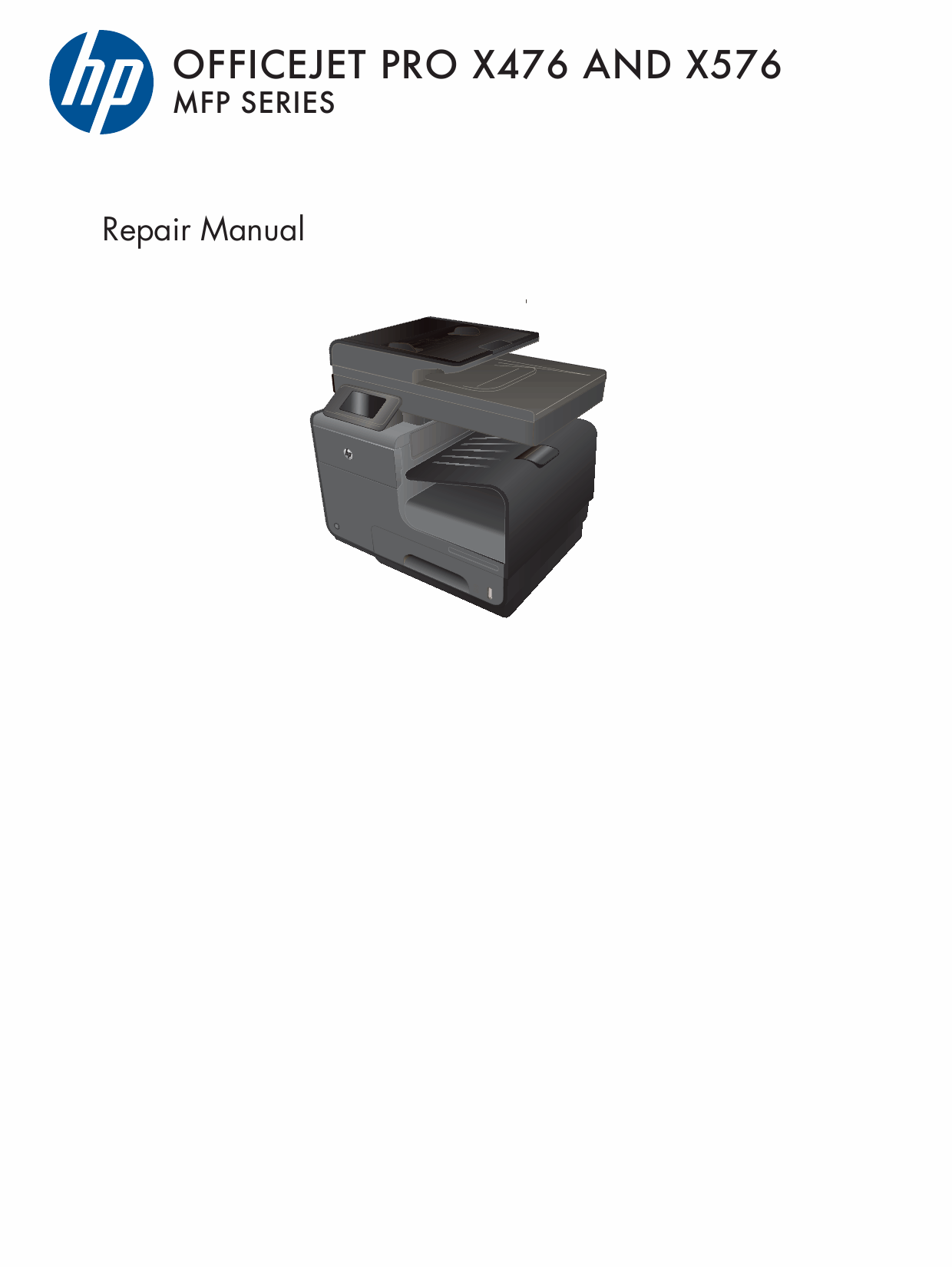 HP OfficeJet Pro X476-MFP X576-MFP Parts and Repair Guide PDF download-1